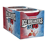 ICE BREAKERS Duo Sugar Free Mints, Strawberry, 1.3 Ounce (Pack of 8)