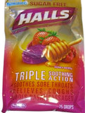 HALLS Sugar-Free Cough Drops, (Honey-Berry, 25 Drops, 12-Pack)