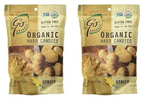 Go Organic Ginger Candy, 3.5 oz (Pack of 2)