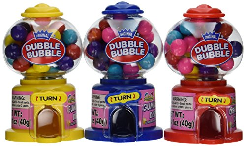 Kidsmania  Dubble Bubble Mini Dispenser 12 Pack-1.41 OZ. (40g)