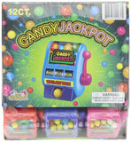 Kidsmania Candy Jackpot Slot Machine Candy Dispenser, 0.7-Ounce Candy-Filled Dispensers (Pack of 12)