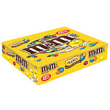 MARS M&M'S Peanut Chocolate Candy Singles Size Pouches 1.74-Ounce Pouch 48-Count Box