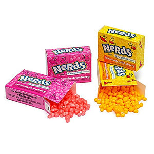 Nerds Candy Mini Boxes - Wonka Nerds Candy ,3 LB Bulk Candy, Strawberry and Lemonade Wild Cherry Assortment,