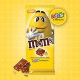 M&M'S Minis & Peanut Chocolate Candy Bars, 4-Ounce Bar (Pack of 12)