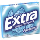 Extra Peppermint Sugarfree Gum 15 Count (Pack of 20)