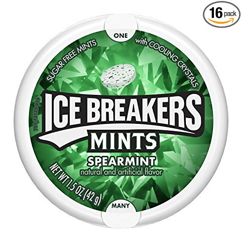 Ice Breakers Spearmint Mints, 1.5-Ounce Pucks (Pack of 16)