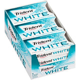Trident White Sugar Free Gum (Wintergreen, 16 Piece, 9 Pack)