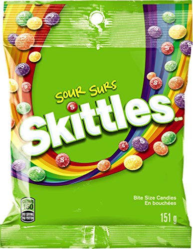 Skittles Candy, Sours, 5.7 Ounce (Pack of 12)