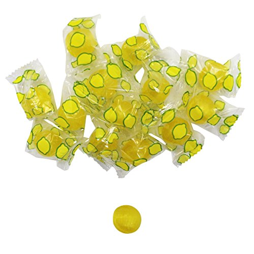 Sour Lemon Drops Hard Candy - 4 LB Party Bag , Old Fashioned Candy - Individually Wrapped - Bulk Candy,Family Size, BY The Nile Sweets