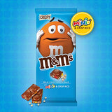 M&M'S Minis & Crispy Rice Chocolate Candy Bars, 4-Ounce Bar (Pack of 12)