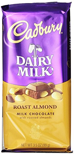 CADBURY DAIRY MILK Roast Almond Chocolate 3.5 Ounce Package (Pack of 14)