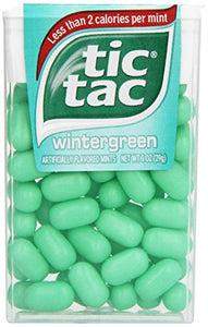 Tic Tac Mints, Wintergreen Singles, 1 oz. (Pack of 12 TO 48)