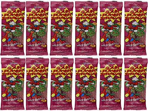 Sour Power Candy Straws, Flavored With Wild Cherry, 12-Pack (Wild Cherry, 12-Pack)