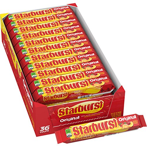MARS Starburst Original Fruit Chews Candy, 2.07 ounce (36 Single Packs)