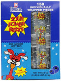Sour Power Blue Raspberry, Individually Wrapped Belts (Pack of 150)