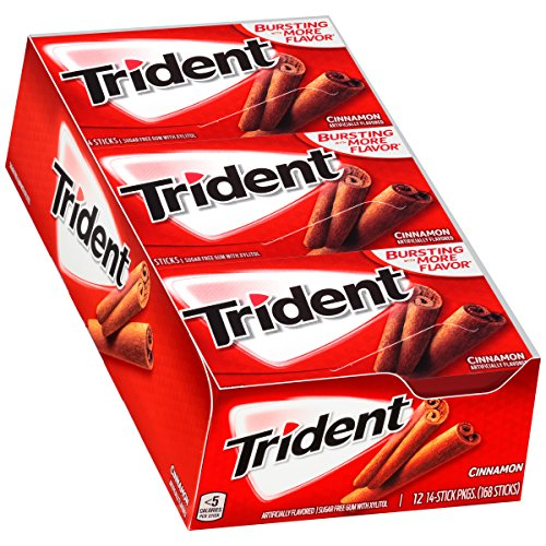 Trident Sugar Free Gum Cinnamon, 14 ct (pack of 12)