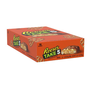 TAKE5 Chocolate Candy Bar with Peanuts (Pack of 18)