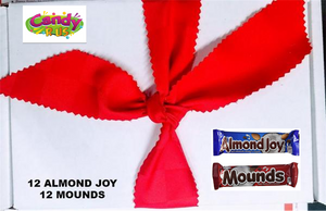 CANDYRUS Peter Paul  Almond Joy and Mounds 24 bar Variety Pack  (GIFT BOX )
