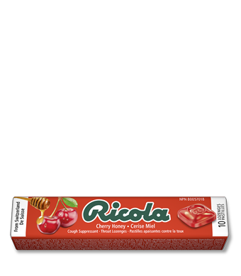 Ricola Swiss Herb Lozenges Cherry-Honey 24 Sticks (10 Drops per Stick)