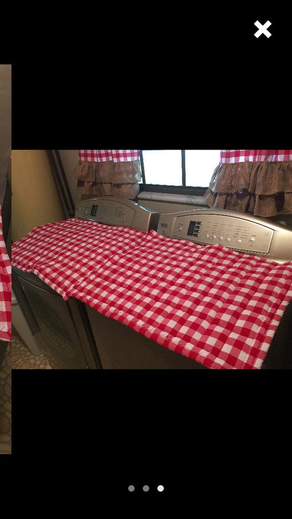 2Quilted washer and drier top cover