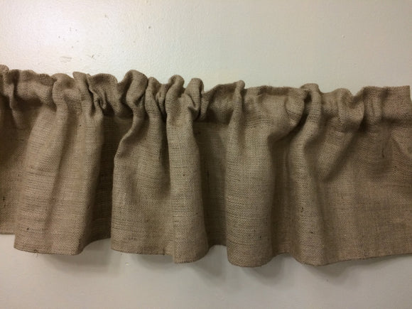 Burlap Valance Great Rustic Look Ruffle Burlap Curtains Burlap Drapes