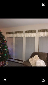 Natural Burlap Valance  ivery Ruffles Burlap Curtains Home Decor Window Treatment