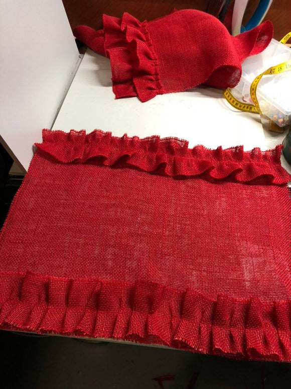 Valentine's Day, Set of 6 Burlap Placemats Rustic Look Table Cloth Table Runner