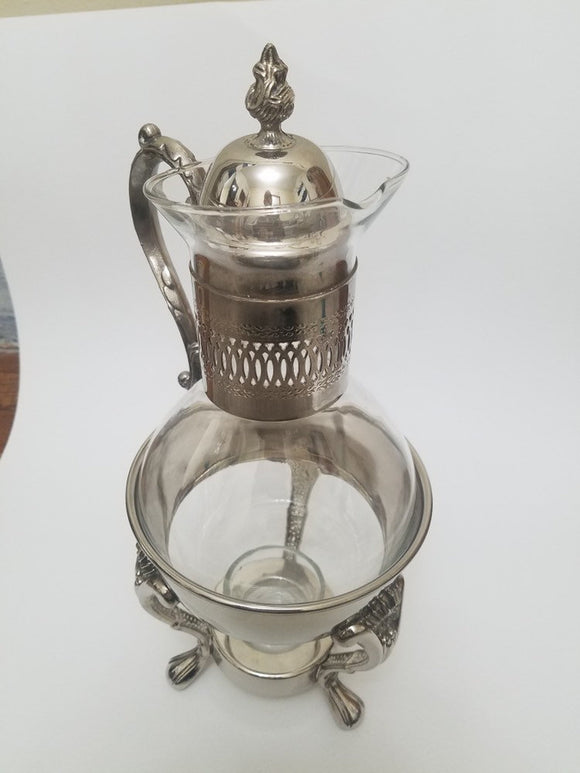 Vintage Glass Coffee /Tea carafe with lid