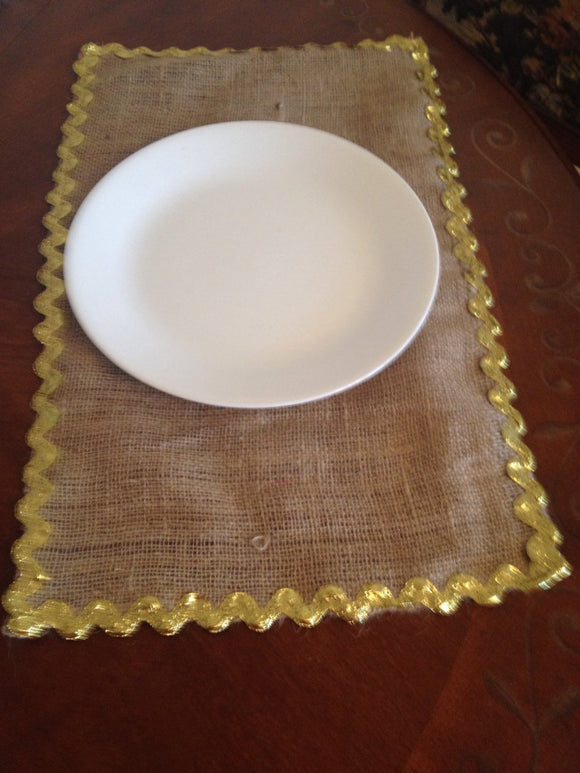 Holidays burlap placemat set of 4