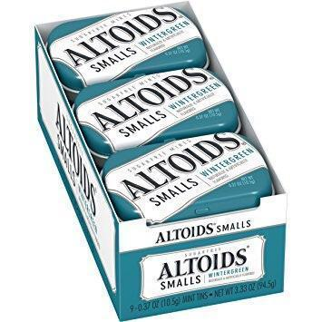 Altoids Smalls Wintergreen Sugarfree Mints, 0.37 Ounce, 9 Count  50 PICES