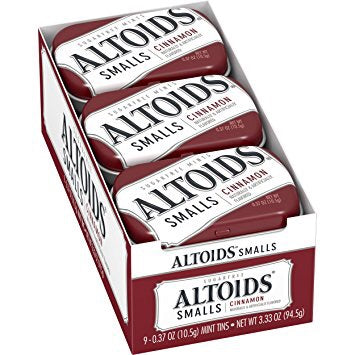 Altoids Smalls Cinnamon Sugarfree Mints, 0.37 Ounce, 9 Count  50 PICES