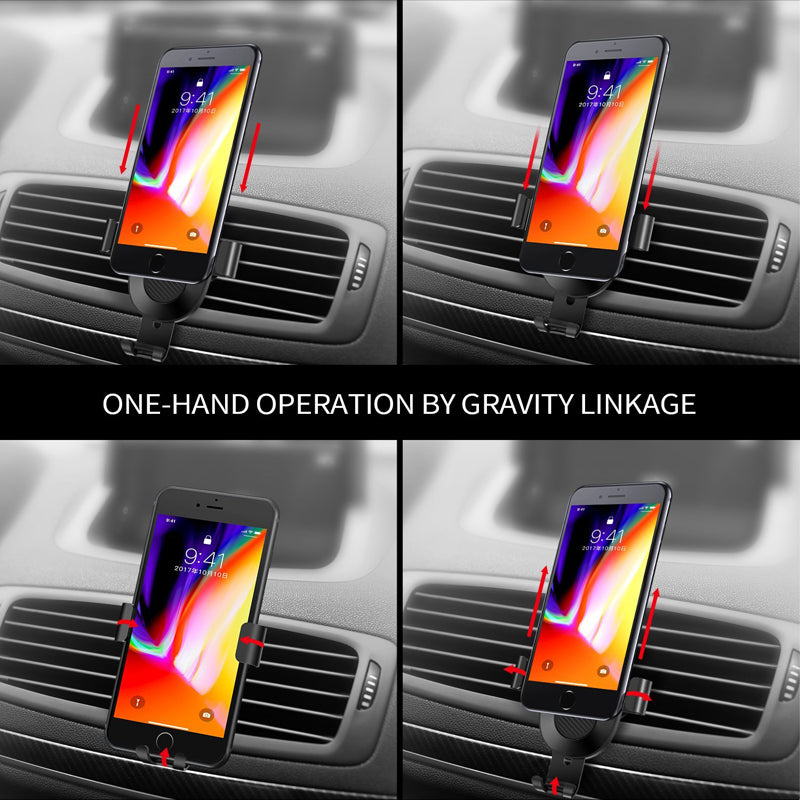 Motorola Moto Z3 Motorola Moto Z2 Force Motorola Moto Z2 Play Car Air Vent Mount Gravity Auto Lock Mechanism Phone Holder Cradle Black Compatible with Motorola Moto Z Play Droid
