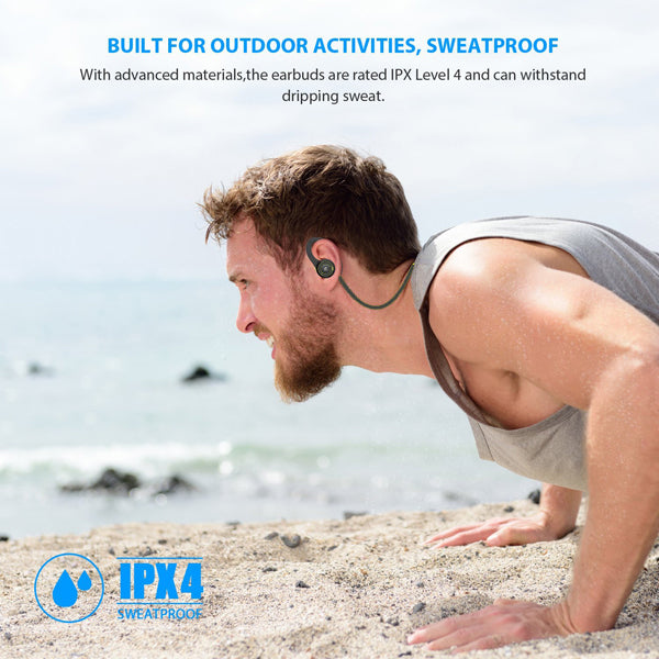 Wireless Headset Sports Earphones Hands-free Mic Neckband Headphones