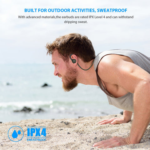 Image of Wireless Headset Sports Earphones Hands-free Mic Neckband Headphones