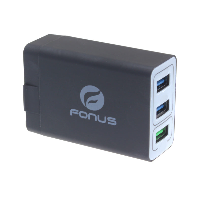 Home Charger 34W 6.8Amp 3-Port USB One Fast Port Travel