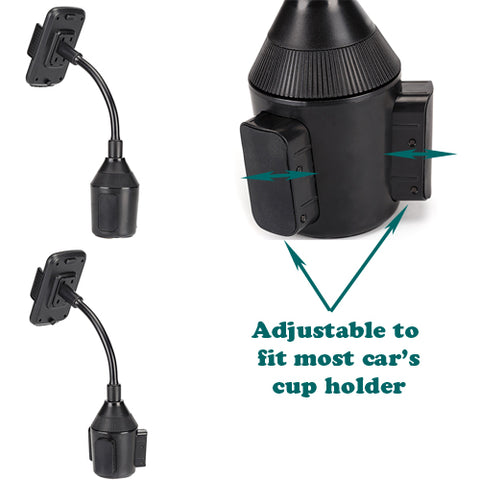 Image of Car Mount Cup Holder Rotating Cradle Dock Gooseneck