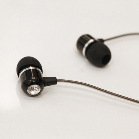 Image of Headset Type-C Adapter Earphones Microphone Metal Earbuds