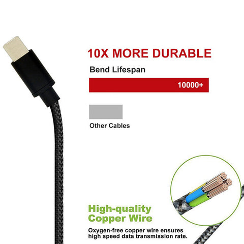 Image of USB Cable 10ft Type-C Charger Cord Power Wire