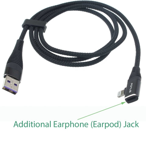 Image of Black Lightning Cable with Headphone Jack