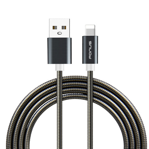 Image of Metal USB Cable 3ft Charger Cord Power Wire Sync