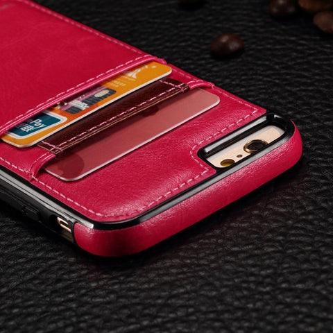 Image of Leather Case Card ID Slots Wallet Cover Skin