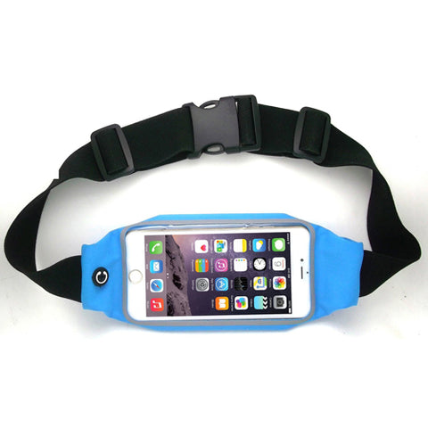 Image of Running Waist Bag Belt Band Sports Gym Workout Case Cover