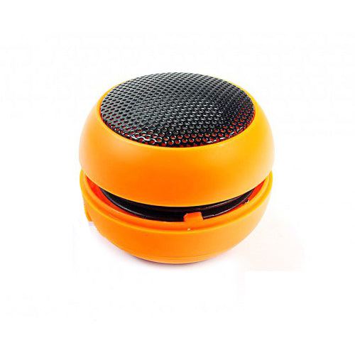 Wired Speaker Portable Audio Multimedia Rechargeable Orange