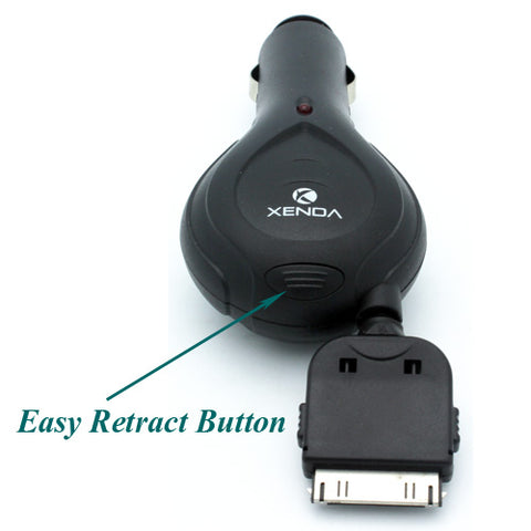 Image of Car Charger Retractable DC Socket Power Adapter Plug-in
