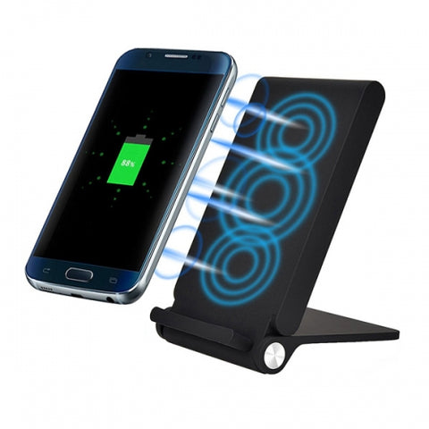 Image of Wireless Charger 10W Fast Folding Stand 3-Coils Charging Pad