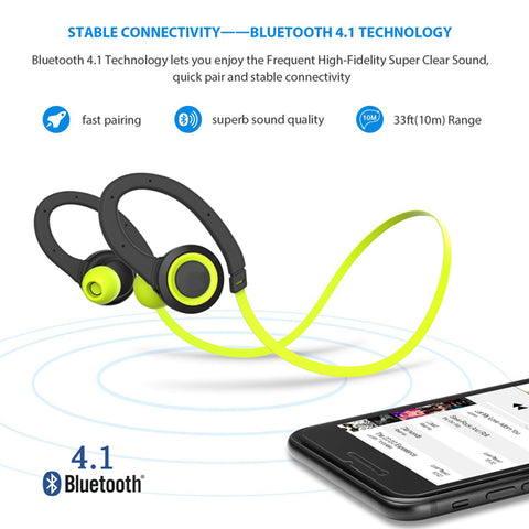 Image of Wireless Headset Sports Earphones With Microphone Neckband Headphones