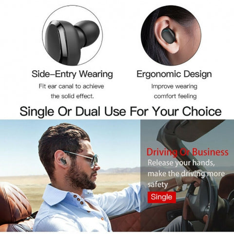 TWS Headphones Wireless Earbuds Earphones True Wireless Stereo Headset