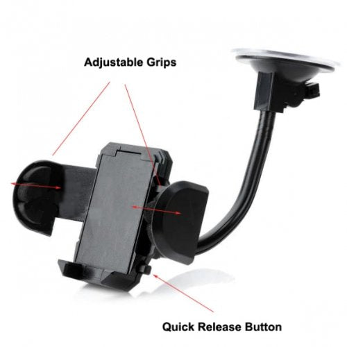 Car Mount Windshield Holder Glass Cradle Swivel