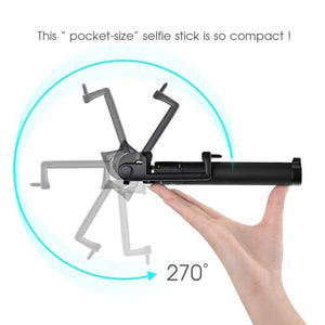Selfie Stick Wireless Monopod Remote Shutter Built-in Self-Portrait