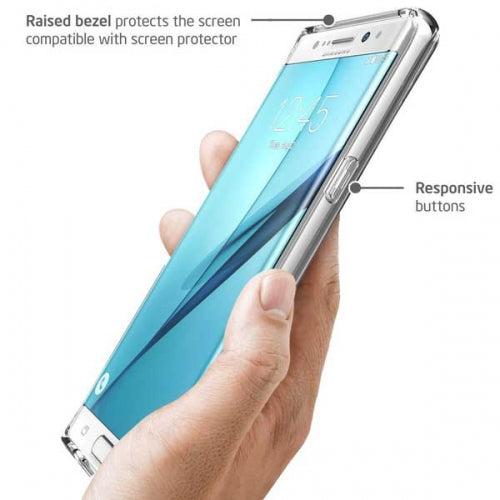 Shock Absorbent Hybrid Bumper Case Clear Back Cover Clear